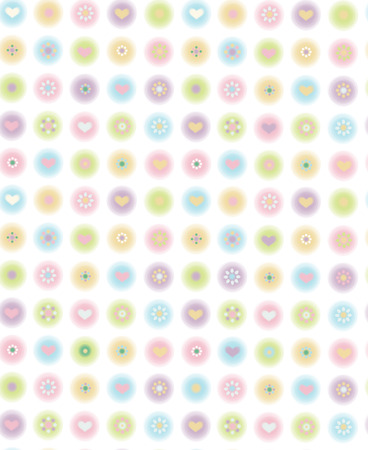 Vector cute seamless pattern, blurred, soft effect  Vector