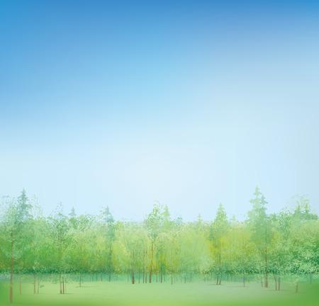 Vector spring landscape  Stock Vector - 26016795