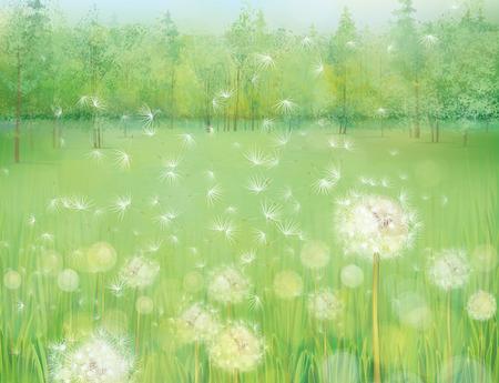 Vector primavera-paesaggio Archivio Fotografico - 26016801
