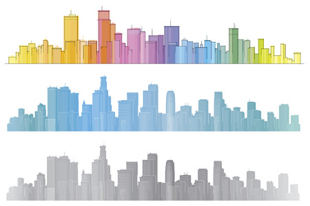 horizontal lines: Vector pintorescas ciudades