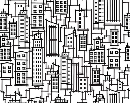 Vector seamless pattern of cityscape  Vector