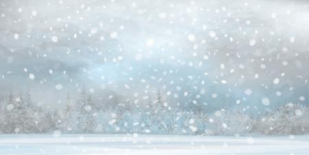 벡터 겨울 풍경