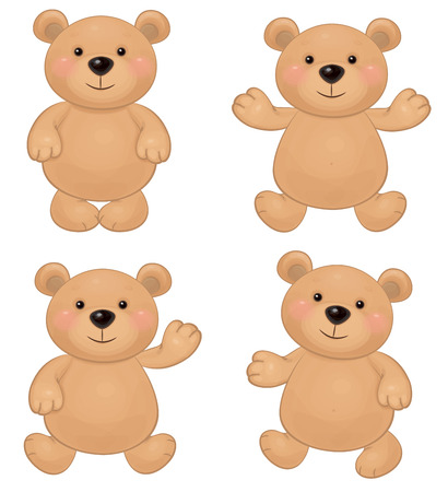 Vector of cute bears  Illustration
