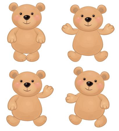 Vector of cute bears  Çizim