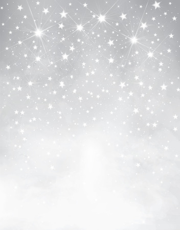 glimmer: silver starry background  Illustration