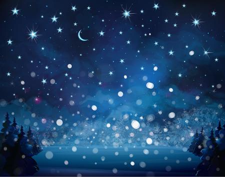 winter wonderland: snowfall background. Illustration