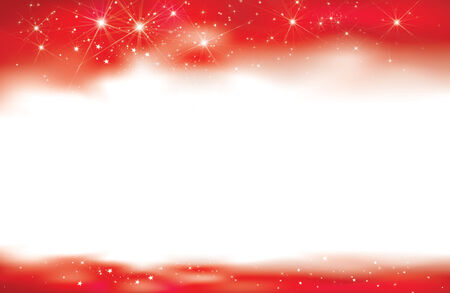 red starry background for design. Vector