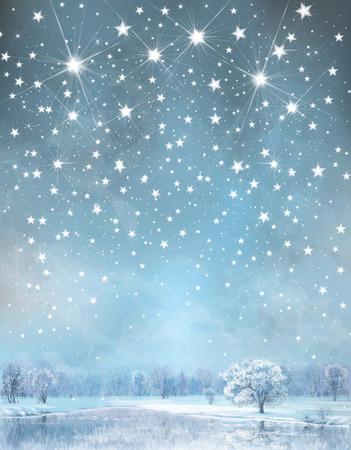 Vector Winter Hintergrund Standard-Bild - 29432060
