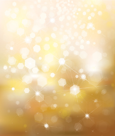 background lights: Vector glitter golden background.