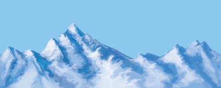 kârlı: Vector seamless snowy mountains.