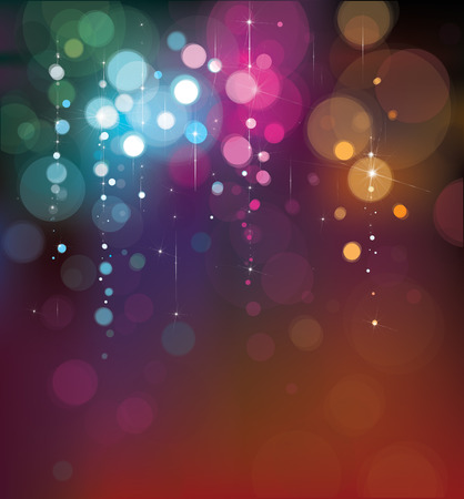 Vector colorful lights background. Ilustrace