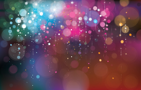 Vector colorful lights background. 向量圖像