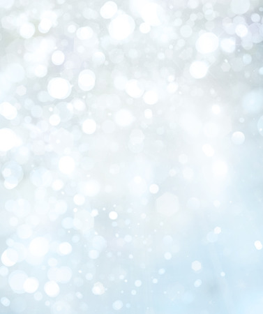 Lights and stars on blue background.