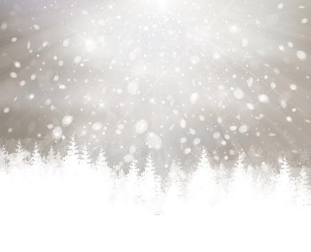 フォレストと冬の積雪。
