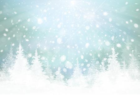 Vector de fondo de invierno.