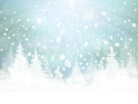 snow and trees: Vector winter background.
