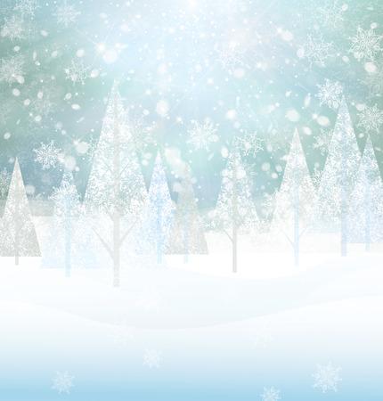 Vector winter snowy background.