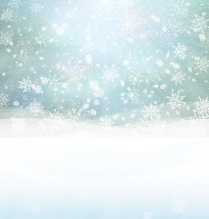Vector winter snowy background. Stock Vector - 30859246