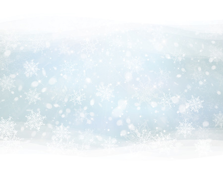 winter landscape: Vector winter snowflakes background.