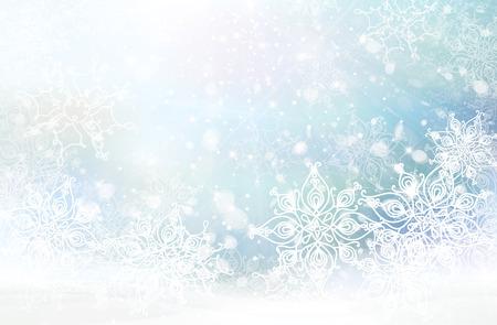 winter snowflakes background.
