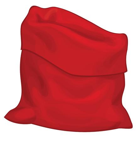 Santa Claus bag isolated.