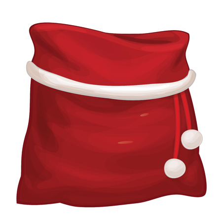 claus: Santa Claus bag isolated.