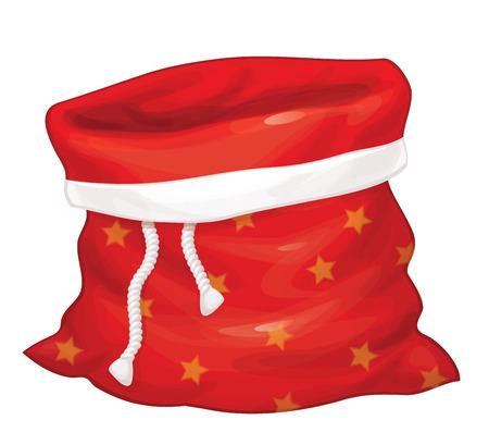 Santa Claus bag isolated. Vector