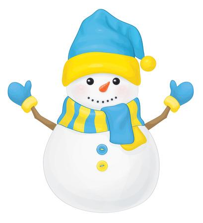 Vector  fun snowman. Vector