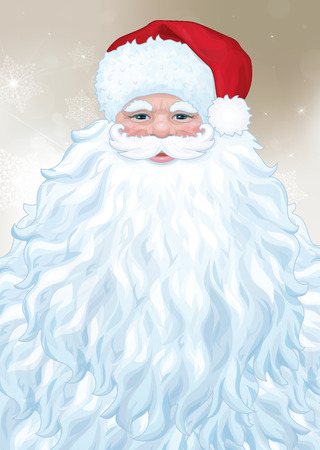 Vector of Santa  Claus with big beard. Фото со стока - 32516617