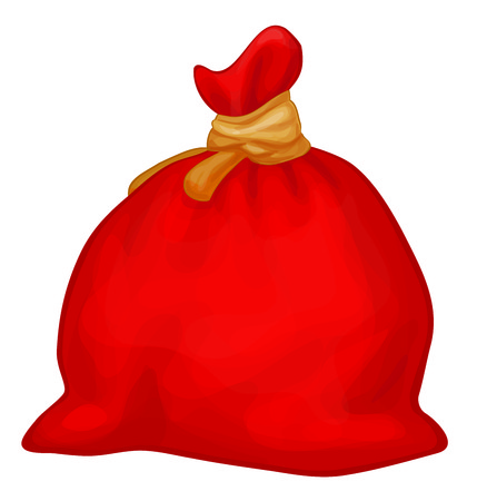 santa sack: Vector Santa Claus full sack.