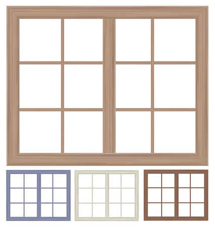 window frames isolated.
