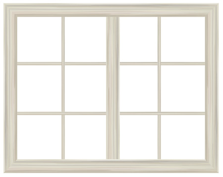 Vector window frame isolated. 向量圖像
