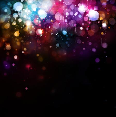 estrellas de navidad: Luces de colores de fondo. Foto de archivo