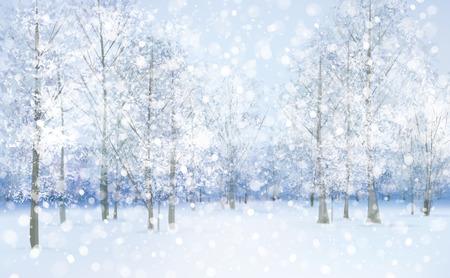 winter wonderland: Vector winter snow landscape.