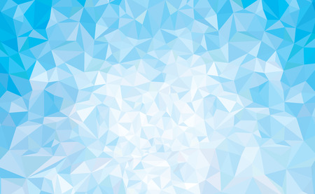 Vector abstract triangles blue background. Stock Illustratie