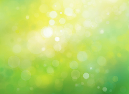 yellow: Spring bokeh green background. Stock Photo