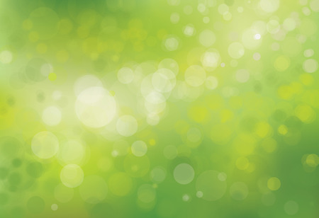 Vector green bokeh background. Çizim