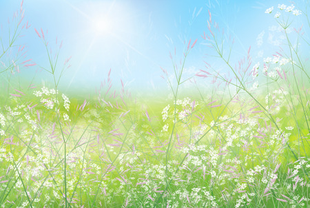 green wallpaper: Spring floral  background.