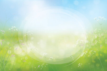 sfondo natura: Vector cerchio cornice sullo sfondo della natura. Vettoriali