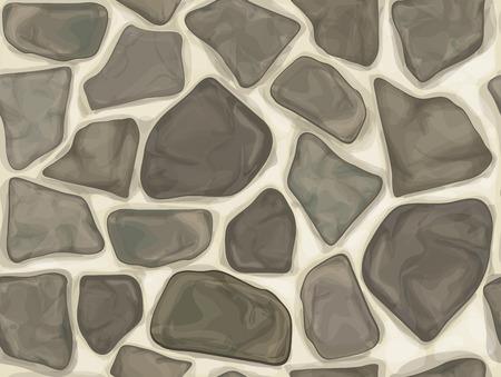 stone mason: Vector seamless texture of  grey stonewall.