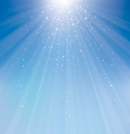 light rays: Vector  sky sparkle background.