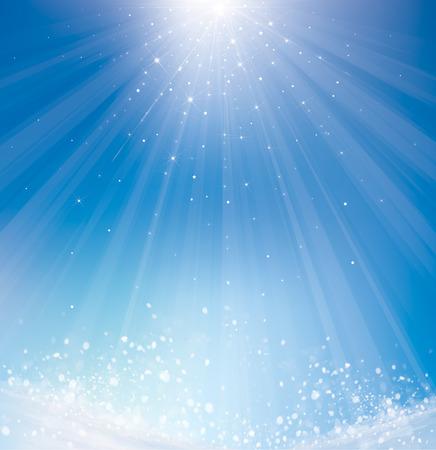 blue lights: Vector  winter sparkle background. Illustration