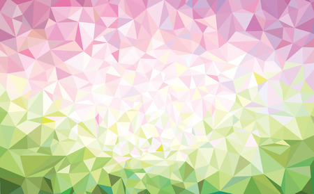 picture card: Vector abstract  triangles background, pink and gren.