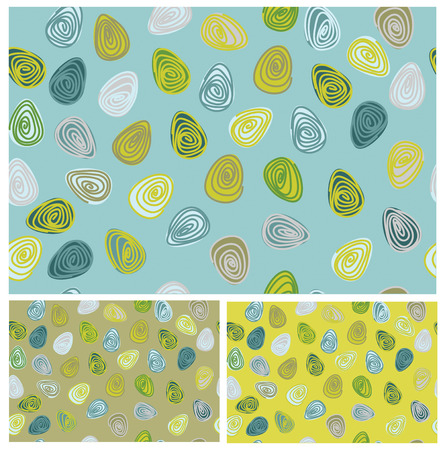 seamless pattern, colorful eggs shapes for Easter design. Vector