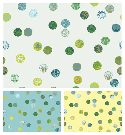 seamless pattern, colorful circles shapes. Vector