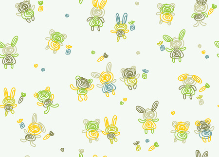 Vector cute seamless baby pattern. Vector