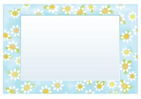 Vector floral  frame 10 x 15,  chamomiles pattern.
