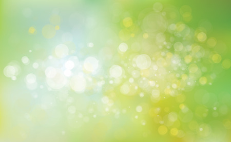 Vector green lights background. Ilustracja