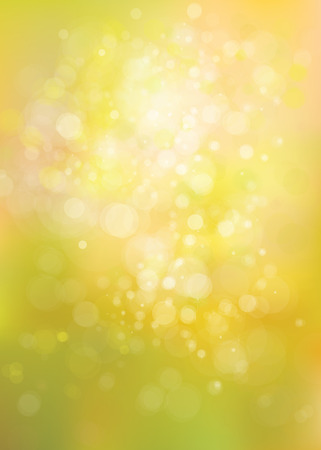 springtime: Vector yellow lights background. Illustration