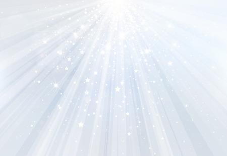 Vector blauem Hintergrund mit Strahlen, Sterne und Lichter. Standard-Bild - 37891495